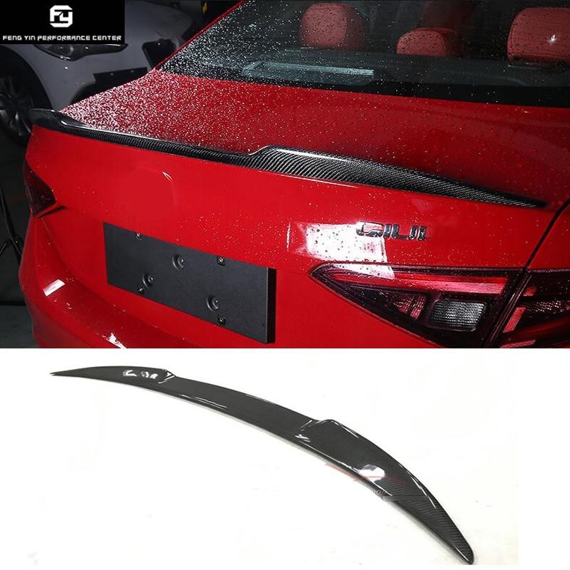 Carbon Fiber Rear Trunk Spoilers Lip Wing For Alfa Romeo