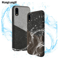 Wangcangli Customized leather canvas stitching card all inclusive mobile phone case for Huawei honor 10 shatter resistant shell