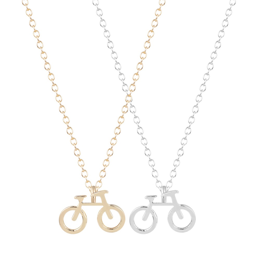 Beautiful Unique Minimal Bicycle Pendant Necklace Pendant Necklace For Girls Women Choker fashion Gold Necklace Collier