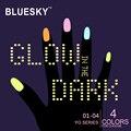 1 pieza de BLUESKY 100% Genuino Original brillando en la oscuridad YG Serie NUEVA MEJOR UV LED Del Arte Del Clavo Esmalte de Uñas de Gel, Fácil Empapa del GEL UV
