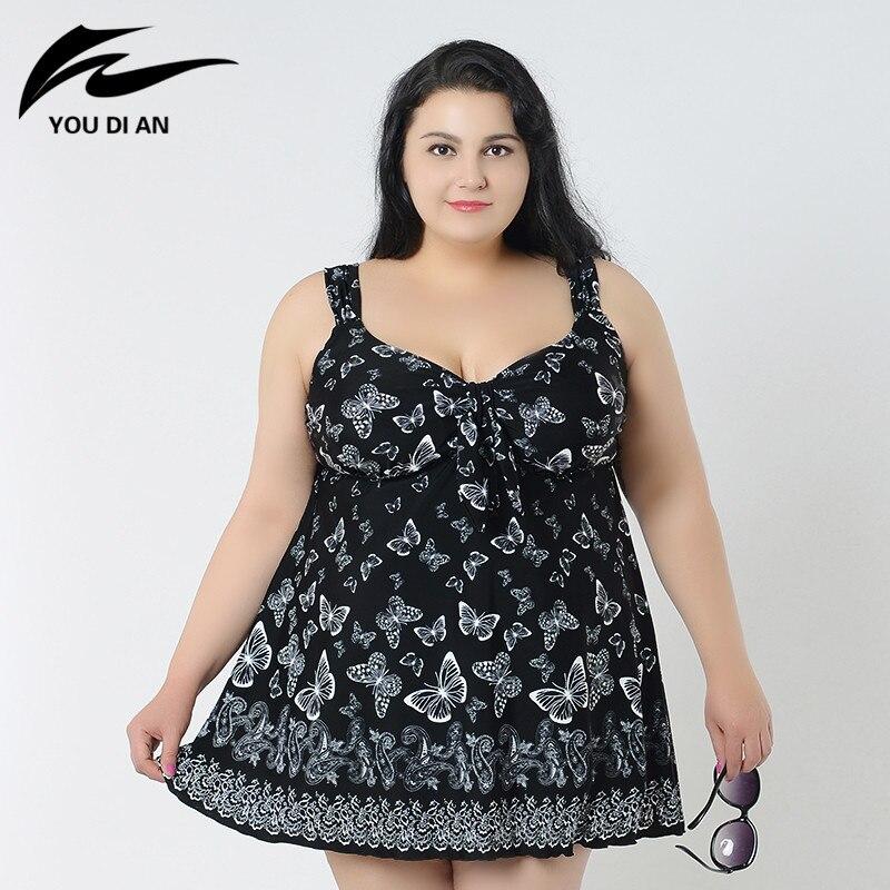 summer butterfly printed swimwear plus size swimsuit women bodysuit summer beach dress two pieces swimsuit beachwear