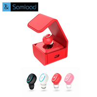 Samload Wireless Bluetooth Earphone Mini Single Side True Earbuds Invisible Portable Ear Buds With Charging Storage