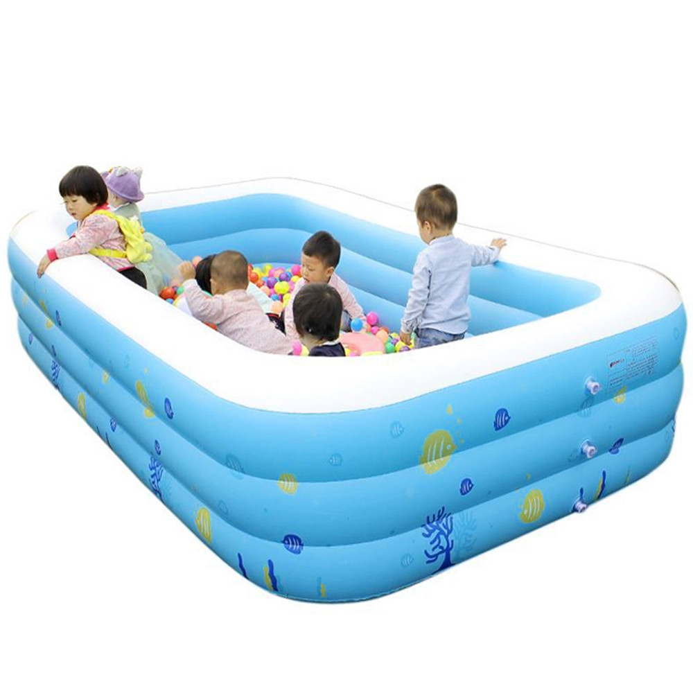 Thickening Giant Inflatable Swimming Pool For Adults Children Baby Family Summer Water Entertainment Bathing Bathtub New Popular brand new 350x170x66cm extra large children and family swimming pool inflatable big swimming play paddling pool for 8 12 person