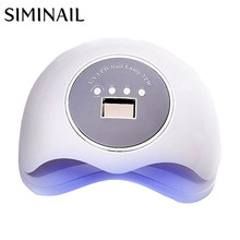 SIMINAIL UV LED Nail Lamp 72w High Power Fast Curing Big Space Size for Drying 2 Hands Feet Daul Light 365nm 405nm 72 watt(China)
