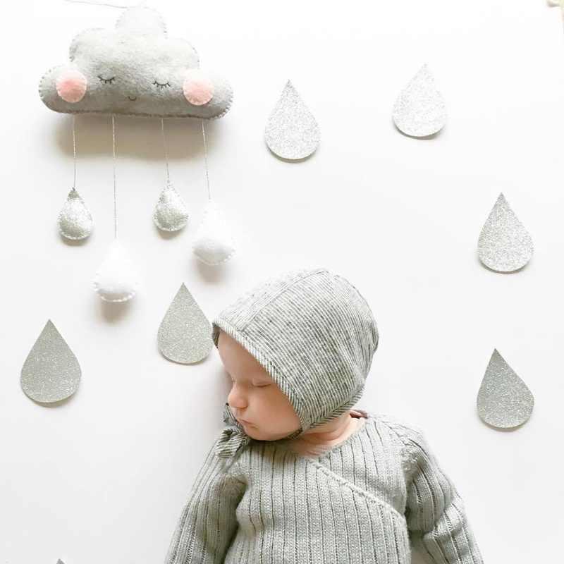 Ins Felt Cloud Raindrop จี้เครื่องประดับแขวนผนัง Nordic สไตล์เด็กตกแต่งห้องเด็กเต็นท์เนอสเซอรี่ตกแต่ง Photo Props