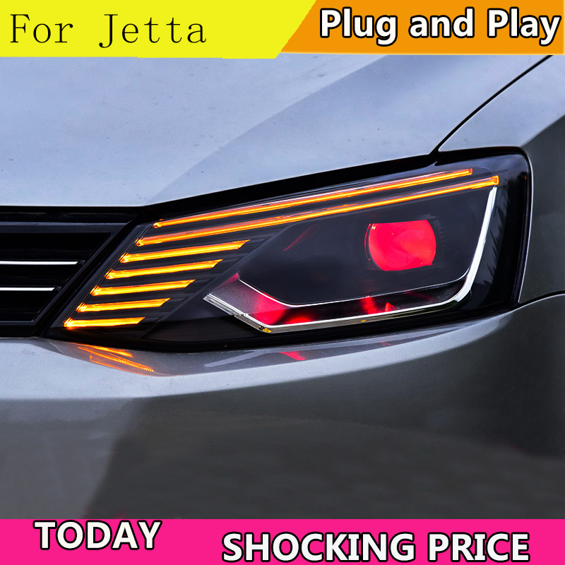 Car Styling Headlights for For VW Jetta 2011 2017 LED Headlight Head Lamp VW Jett LED