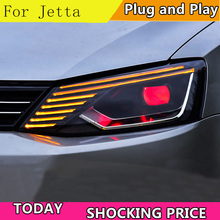 Car Styling Headlights for For VW Jetta 2011-2017 LED Headlight Head Lamp VW Jett LED Daytime Running Light LED DRL Bi-Xenon HID цена в Москве и Питере