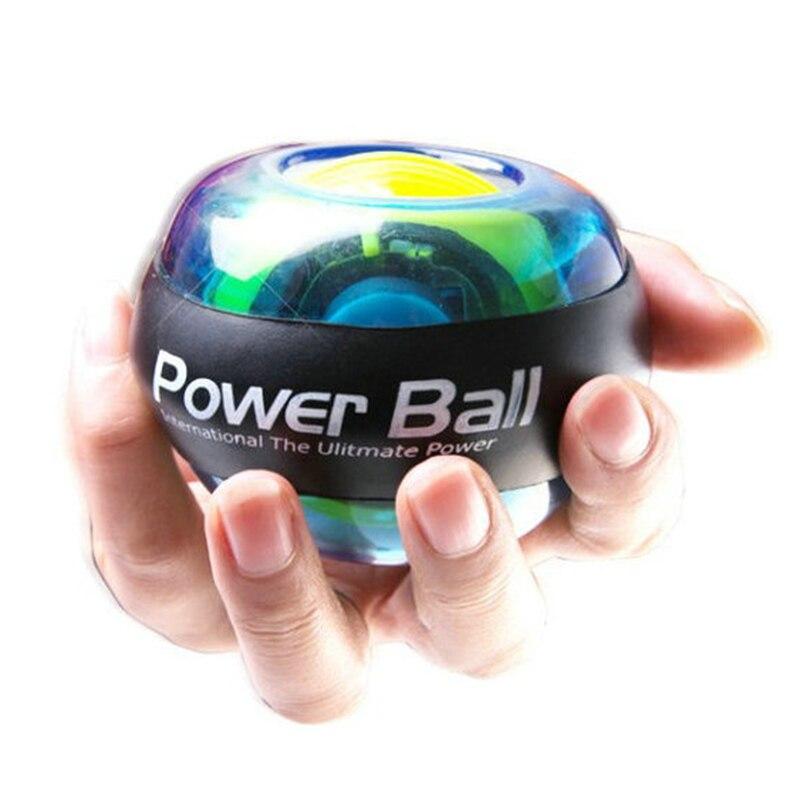 Giroscopio bola fuerza bola Gyro sin luz bola de la muñeca del brazo ejercitador fortalecedor LED con velocidad 4 colores