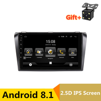 9 inch Android 8.1 Car DVD Player GPS for Mazda 3 Mazda3 2004 2009 audio car radio stereo navigator with bluetooth wifi built in