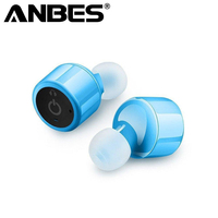 ANBES X1 Twins Bluetooth V4 2 Earphones Mini True Wireless Headphone Super Bass Headset Stereo Earbuds