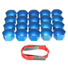 20 Pcs/Set 19mm Blue Wheel Nut Bolt Covers CAPS For Ford /Focus /Mondeo /Kuga C /Max /FIESTA