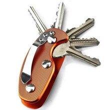 Держатель для ключей, алюминиевый сплав, брелок, гибкий держатель для ключей, зажим, Алюминиевый зажим, органайзер для ключей, сумка, кошелек, папка