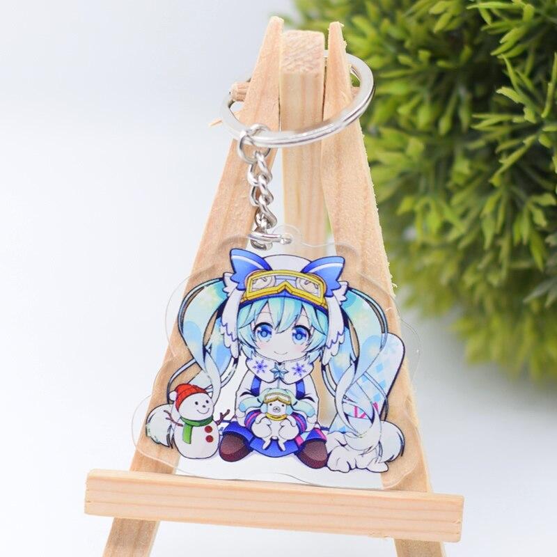 6 հատ / սահմանել Hatsune Miku Action Figure Keychain - Խաղային արձանիկներ - Լուսանկար 2