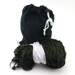 Image 5 - Высококачественный садовый открытый гамак для сна кровать 1 шт. компактная для путешествий нейлоновая висячая сетка по всему миру качели спальная кровать