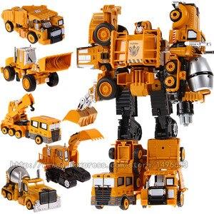 Image 5 - Mới Oversize 33 Cm Anime Devastator Robot Biến Hình Xe Ô Tô Đồ Chơi Bé Trai Nhân Vật Hành Động Máy Bay Xe Máy Khủng Long Mô Hình Đồ Chơi Trẻ Em