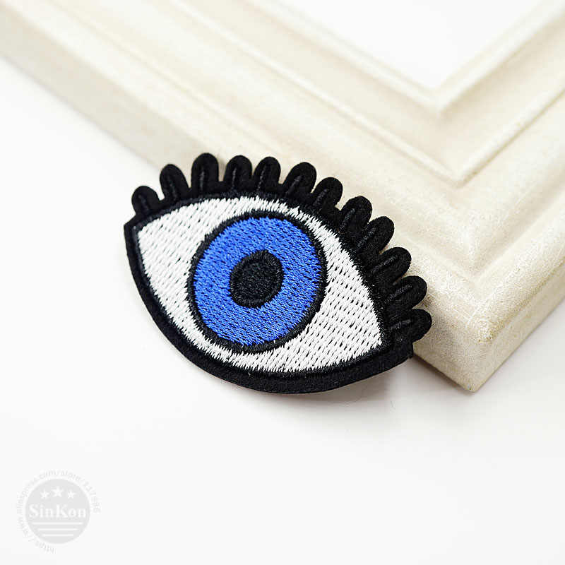 Eye (Size:4.7x5.9cm) Cloth Badges Mend Decorate Patch Jeans Bag Hat Clothes Apparel Sewing Decoration Applique Badge Patches