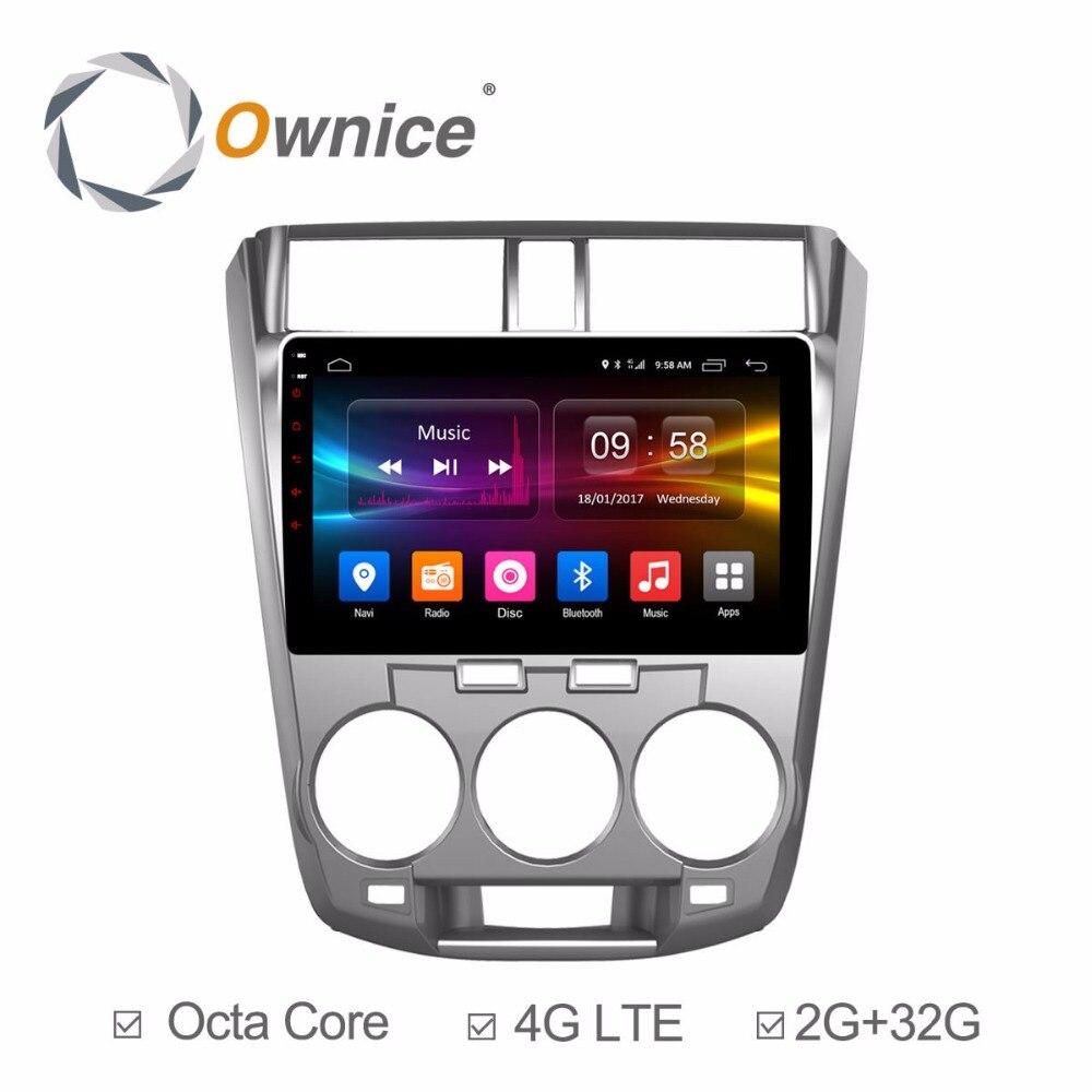 HD 10.1 дюймов Android 6.0 Octa 8 core 2 ГБ Оперативная память + 32 ГБ Встроенная память dvd плеер для honda city 2009 2014 GPS навигации радио 4 г Wi Fi