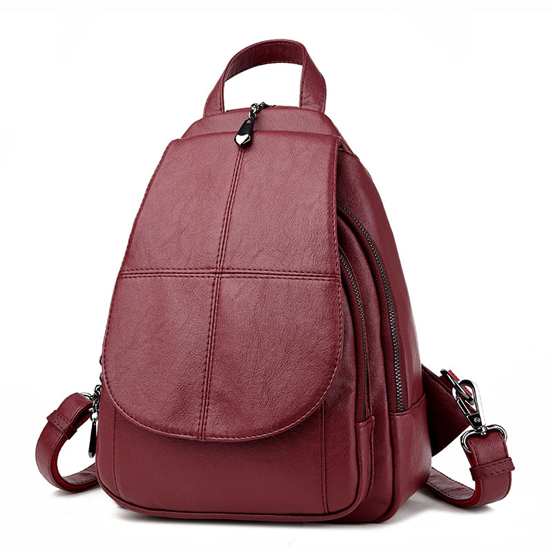 2018 New Arrival Female Backpack Genuine Leather Real Sheepskin Women Backpacks for School Teenagers Girls new arrival women genuine leather backpack young lady real leather backpack luxury female school bags with simple design e143