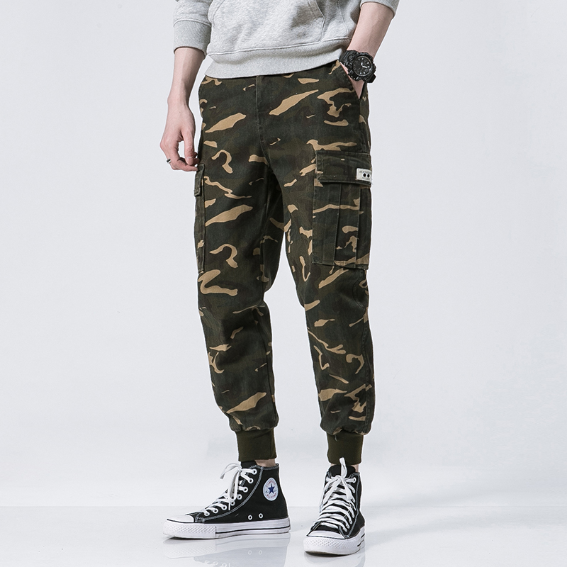 LEFT ROM 2018 fashion male leisure camouflage trousers /high-grade men's loose comfortable Pure Cotton Haroun pants M-5XL