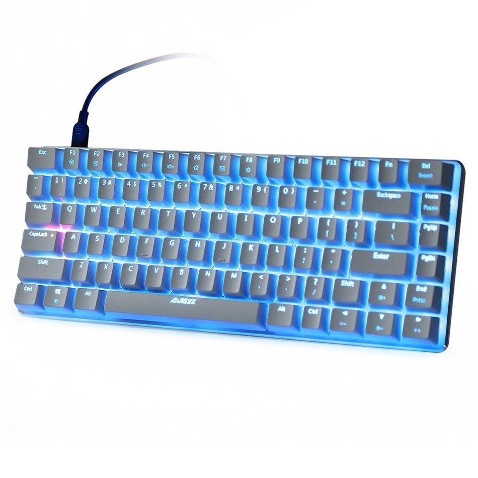 Prix pour D'origine Ajazz AK33 Mécanique clavier 82 Touches USB Filaire Clavier de Jeu avec Backligh pour Tablet Ordinateur De Bureau Périphériques