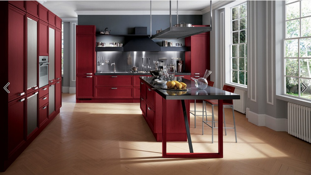 2017 new design solid wood kitchen cabinets customized made cheap priced traditional kitchen furnitures s1606112 - Custom Kitchen Cabinets Prices
