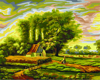 DIY Digital Oil Painting On Canvas Abstract Handwork Countryside Landscape Wall Pictures Paint By Number Quadro