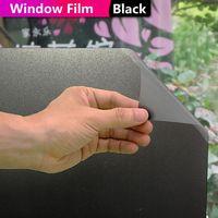 HOHOFILM 122cmx500cm Black Window Film Decorative House Glass Decor Tinted Privacy Glass Sticker PET 48''x196.8''