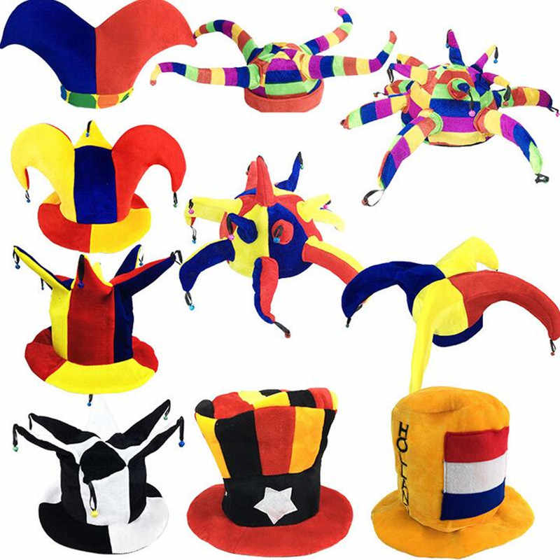 Circus Clown Hat Kids Adults Football Beer Carnival Hats  Fancy Dress Decoration Party Hats Christmas Halloween Navidad