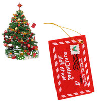 Santa Claus Letter Red Envelope Embroidery Card Christmas Hanging Ornament Party Wedding Decor Gift*Christmas products