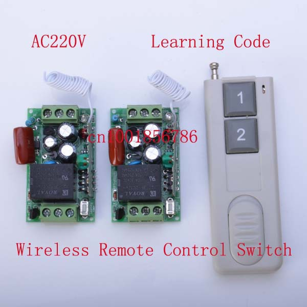 220V 1 CH rf Wireless Remote Control Switch System 315MHZ/ 433MHZ Power wall built-up control - Sunshine Low price store