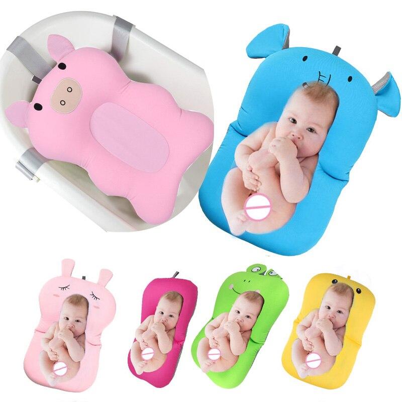 Baby bath tub Newborn Baby Foldable Baby bath tub pad & chair & shelf newborn bathtub seat infant  support Cushion mat bath mat цена 2017