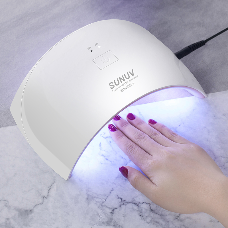 Image 4 - SUN9c Plus UV lamp SUNUV LED Nail dryer for Curing All Gels Manicure Nail Tools for Nail Salon Perfect Thumb Drying Solution-in Nail Dryers from Beauty & Health