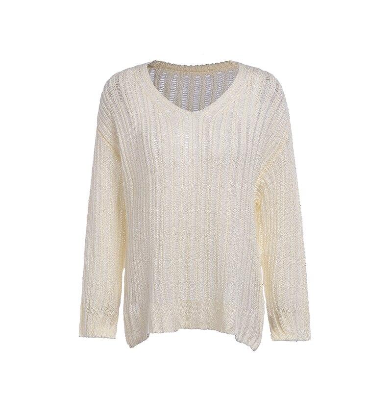Everkaki Women Solid Knit Boho Sweaters Pullovers Long Sleeve Standard Cardigans Bohemian Holiday Female 2018 Autumn New (12)