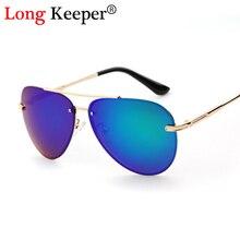 Long keeper sin montura gafas de sol de los hombres gafas de sol polarizadas lente oval mujeres del estilo gafas de sol gradiente eyewares gafas de sol mujer
