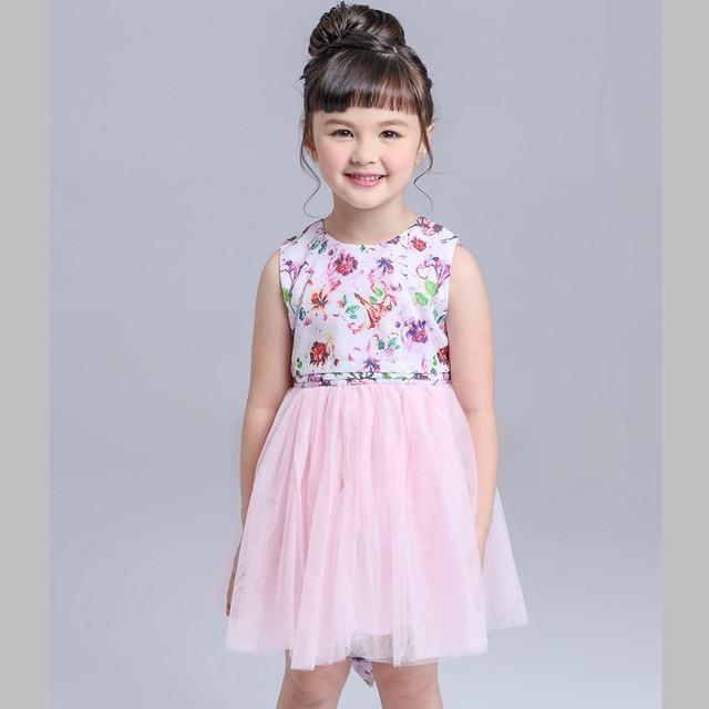 cfe4581ea Retail Toddler Girls Dresses Kids Fashion Vintage Flower Tutu Dress ...
