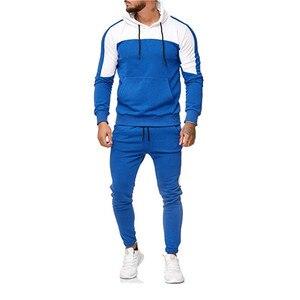 Image 4 - 2018 nuevo casuales hombres camuflaje impresso Patchwork chaqueta hombres chaqueta de piezas 2 chandal ropa deportiva sudaderas