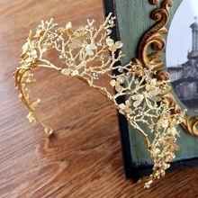 Vintage oro barroco Boda nupcial corona accesorios para el cabello libélula Tiara Damas DE HONOR diamantes de imitación tocado corona diadema