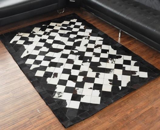 Cowhide Leather Vinyl Floor Rugs