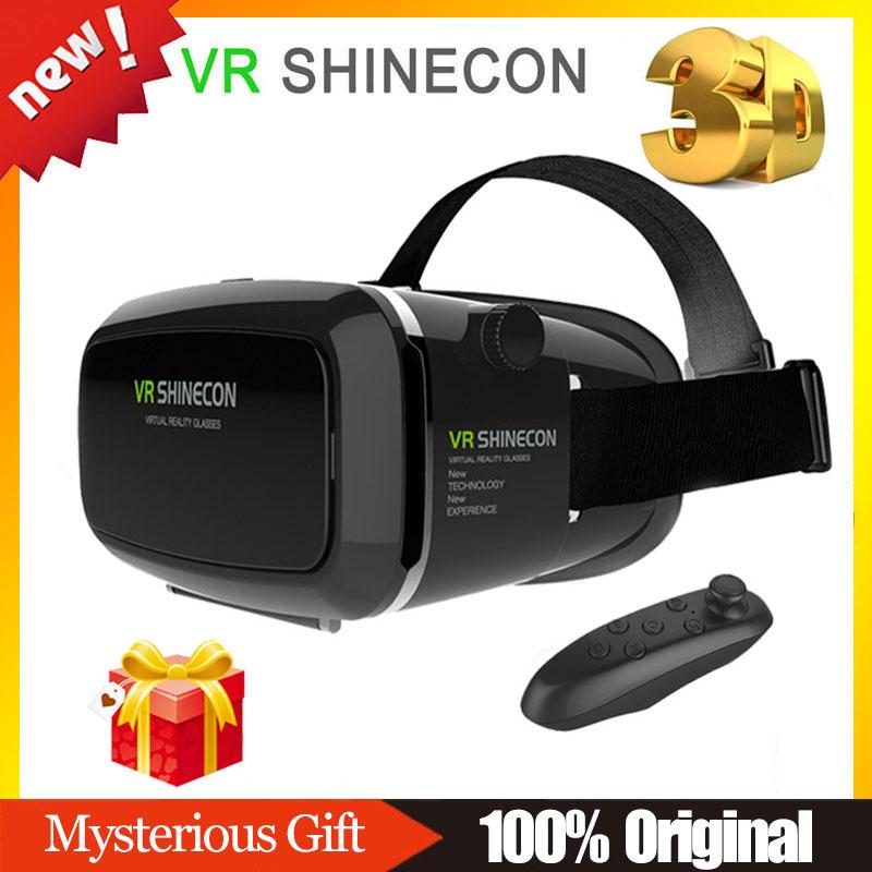 VR Shinecon Headmount VR Virtual Reality 3D Glasses Goggles Google Cardboard VR Helmet Wireless Bluetooth