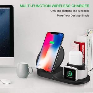 Image 5 - Qi Wireless 3 in 1 halter stehen station ladegerät 7,5 W Für Iwatch 5 4 3 2 Iphone 11 Pro Max XS MAX XR Apple Uhr Airpods 1 dock