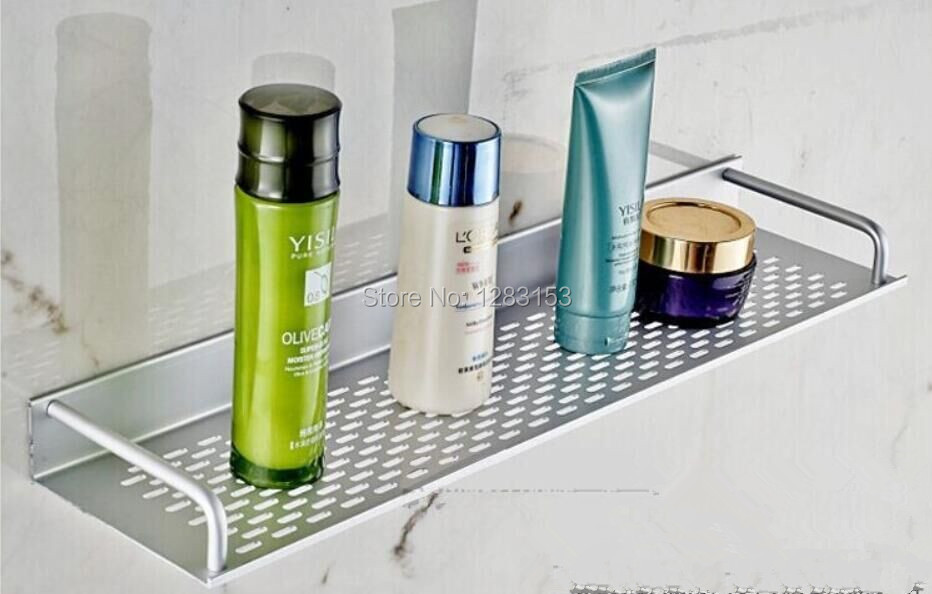 high quality Bathroom space aluminum mesh Shelf towel bath towel bar towel bar tray 40cm 50cm