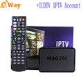 Con iptv IUDTV suecia cuenta Grecia Holanda España Alemán REINO UNIDO Italia código europeo de tv ip linux mag250 APK TV box set top caja