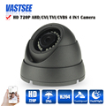 MINI AHD-M Camera 1.0MP 720P HD Analog room dome indoor vandalproof BNC 24IR 1920*720 Night Vision cameras de seguranca hot sale