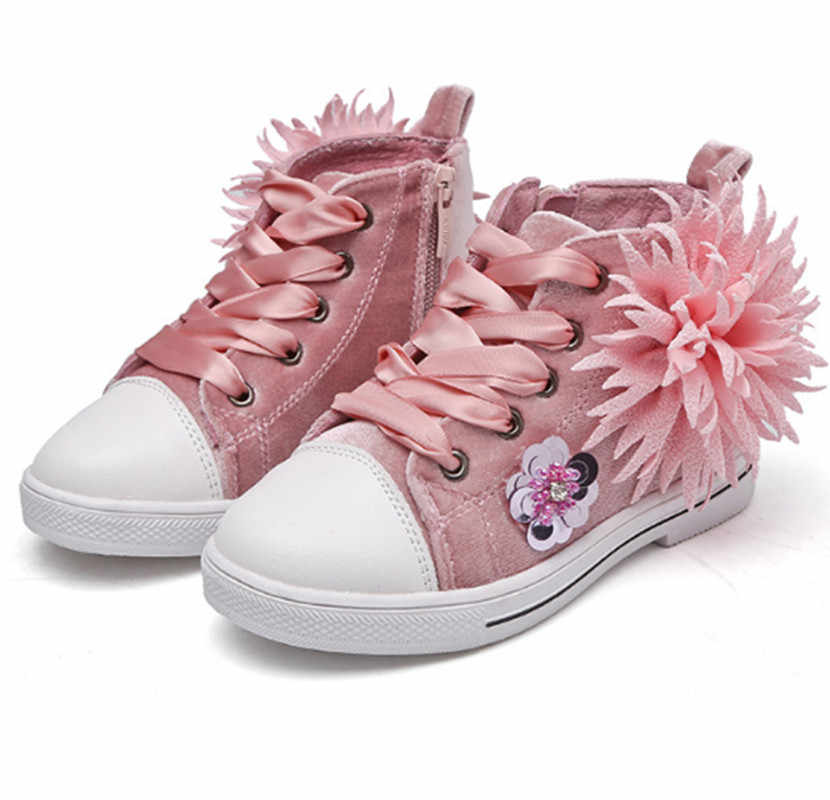 Kids Shoes 2019 flower Lace Up Child