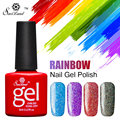 Saviland Glitter Neon Nail Gel Polish Soak Off UV Colorful Nail Art For Colors Gel Nail Polish Long-lasting Gel Varnish