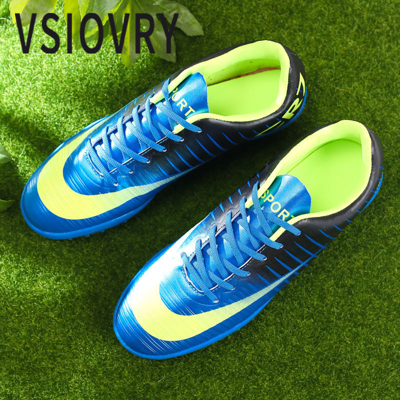 f29f7e02e3c VSIOVRY 2018 Men Football Shoes Soccer Sport Shoes For Women Spring Autumn  Outdoor Soccer Cleats Waterproof Football Sneakers-in Soccer Shoes from  Sports ...