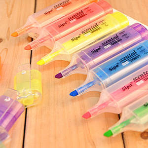 Stationery Highlighter-Pen Fluorescent-Pen with Fragrance South-Korea Multicolor-Color