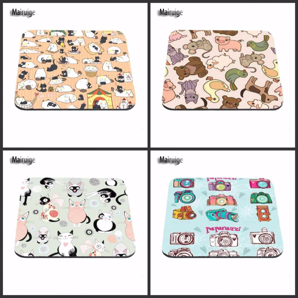 Mairuige New Arrivals Custom Support Cartoon Cat Mouse Pad Computer Mouse Pad Free Design Rubber Mouse Pad. Notebook Gaming Mat