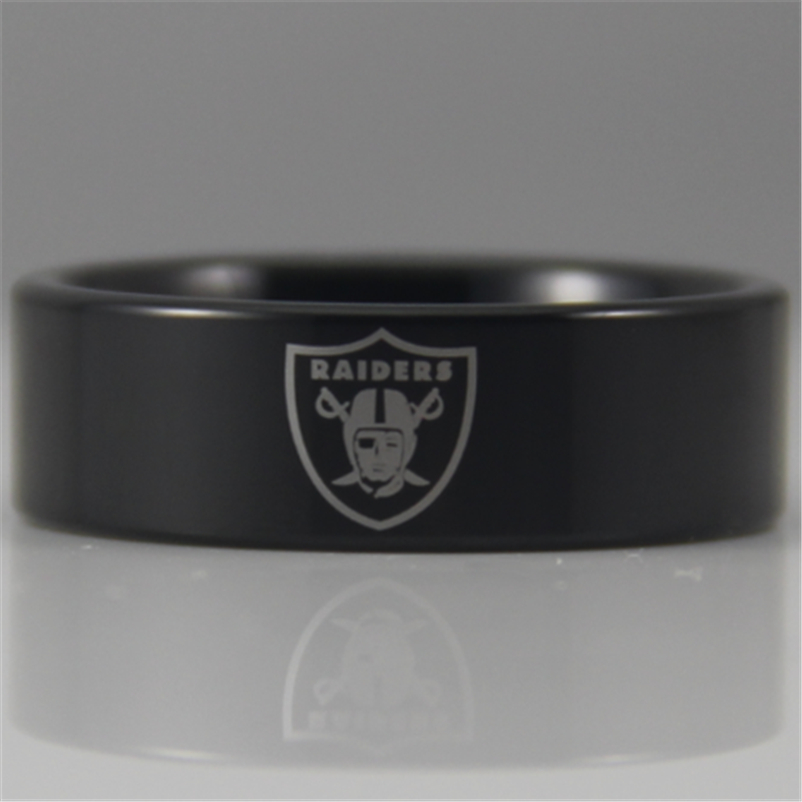 Free Shipping YGK JEWELRY Hot Sales 8MM Black Pipe Raiders Design New Tungsten Comfort Fit Ring
