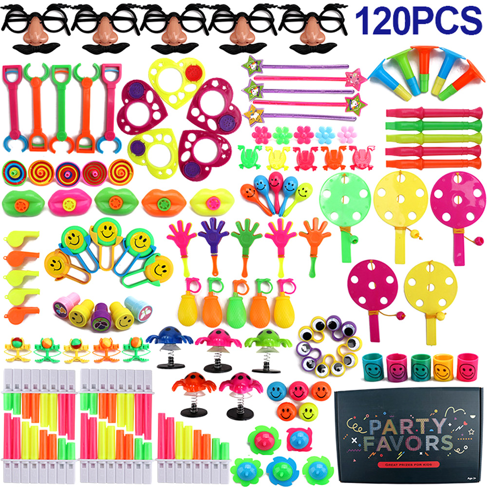 120PCS Birthday Party Favors Pinata Fillers Classroom Treasure Box Prizes Game Party Supplies Small Bulk Toys For Children Gifts